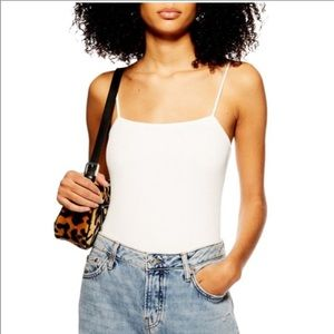 TopShop Ribbed Bodysuit White size XS 2
